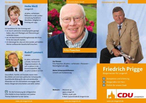 Friedrich Prigge - CDU Lengerich