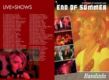 LIVE>SHOWS - END OF SUMMER