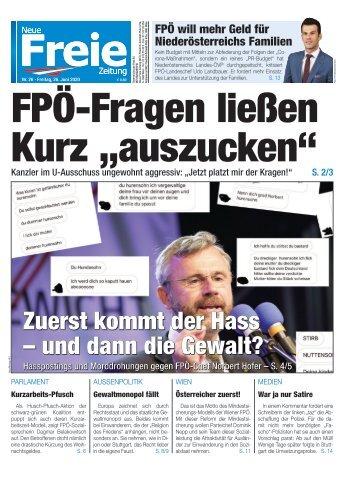 """FPÖ-Fragen ließen Kurz """"auszucken"""""""