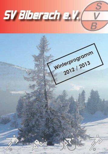 Winterprogramm 2012 / 2013 - SV Biberach