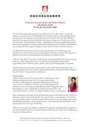 HS Programm Amiena Zylla_Yoga fuer den flachen Bauch_Herbst_2020