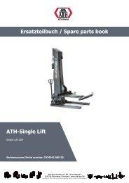 ATH-Heinl ERSATZTEILBUCH SPARE PARTS BOOK Single Lift 35M