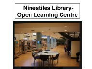 An Introduction to Ninestiles library and OLA