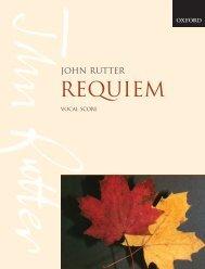 Rutter Requiem vocal score