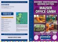 Fragen zu Auktionen oder Verkäufen unter - DoveBid