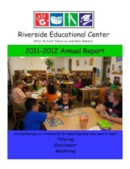2011-2012 Annual Report - Riverside Educational Center
