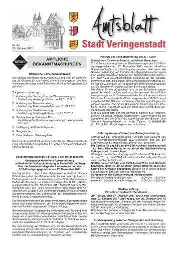 Amtsblatt - Veringenstadt