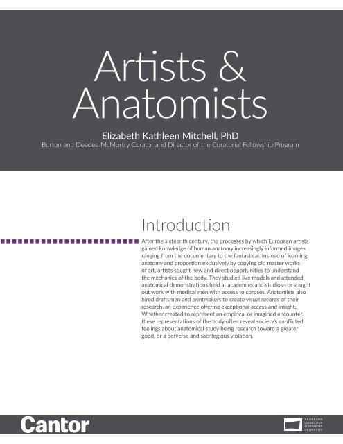 Learning Guide | Artists & Anatomists