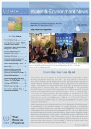 From the Section Head - Nuclear Sciences and Applications - IAEA