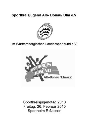 Sportkreisjugendtag 2010 - Sportkreisjugend Alb-Donau