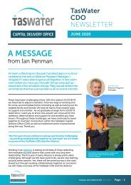 TasWater CDO June 2020 Newsletter