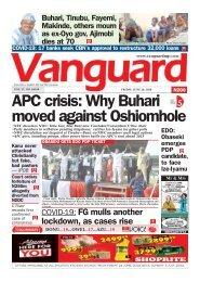 26062020 - APC crisis: Why Buhari moved against Oshiomhole