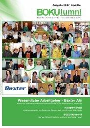 Wesentliche Arbeitgeber - Baxter AG - Alumni - Boku