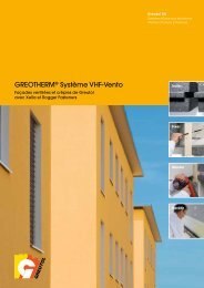 GREOTHERM® Système VHF-Vento - Greutol AG