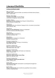 Literatur/CDs/DVDs - Christoph Simma