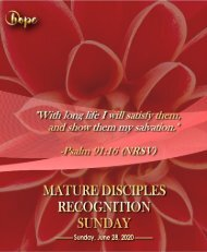 June 28, 2020 Bulletin Fourth Sunday After Pentecost