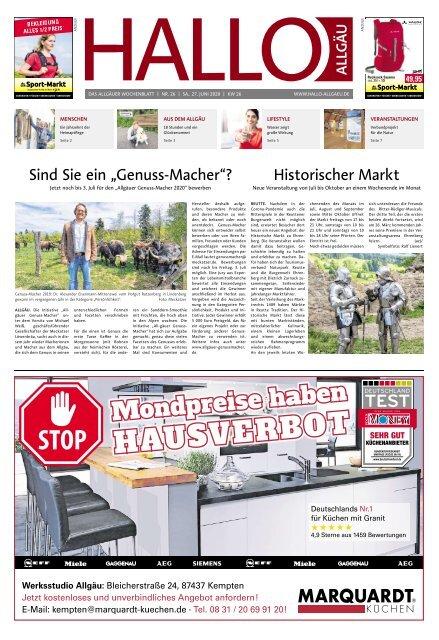 Hallo-Allgäu  vom Samstag, 27.Juni