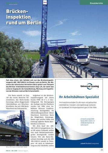Brückeninspektion rund um Berlin