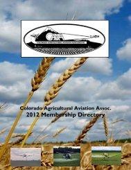 Membership Directory - Colorado Agricultural Aviation Association