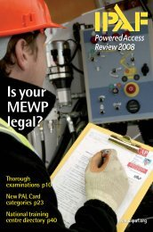 Is your MEWP legal? - High Access Solutions