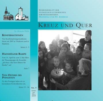 April/Mai 2009 - Ev-luth. Kirchengemeinde Hannover-Hainholz