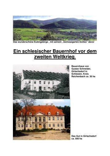 Ein schlesischer Bauernhof vor dem zweiten Weltkrieg.