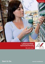 Lebensmittelkennzeichnung - Arbeiterkammer