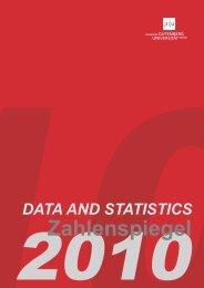 JGU Data and Statistics 2010 - Johannes Gutenberg-Universität Mainz