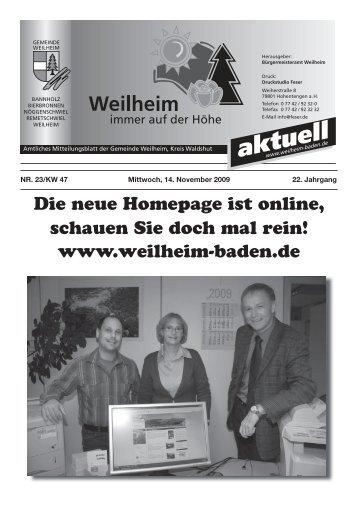 Unser Bauhof - Gemeinde Weilheim / Baden
