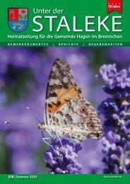 Unter der Staleke 218, Sommer 2020