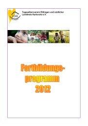 Fortbildungsprogramm 2012 - Tageselternverein Ettlingen
