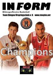 INFORM Bildungsoffensive Basketball - Erdgas Ehingen ...