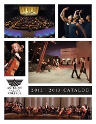 2012 | 2013 CATALOG - Antelope Valley College