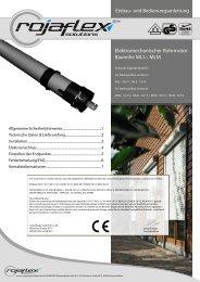 Elektromechanischer Rohrmotor Baureihe MLS / MLM