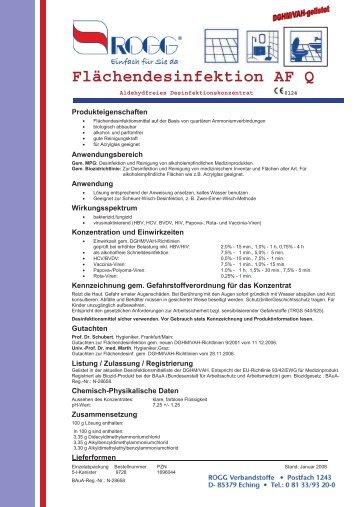 Flächendesinfektion AF Q - ROGG Verbandstoffe