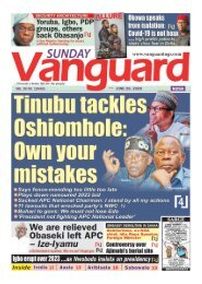 28062020 - Tinubu tackles Oshiomhole Own your mistakes
