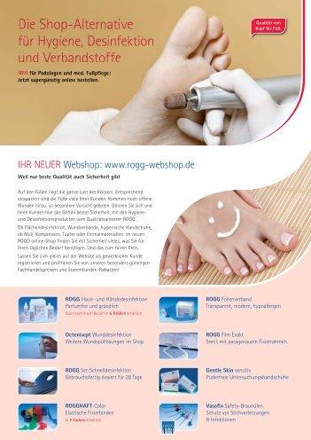 IHR NEUER Webshop: www.rogg-webshop.de - ROGG Verbandstoffe