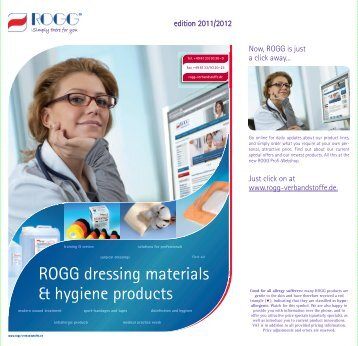 ROGG dressing materials & hygiene products - ROGG Verbandstoffe
