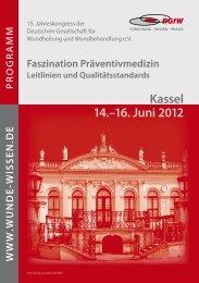 16. Juni 2012 - Wunde-Wissen.de - Deutsche Gesellschaft für ...