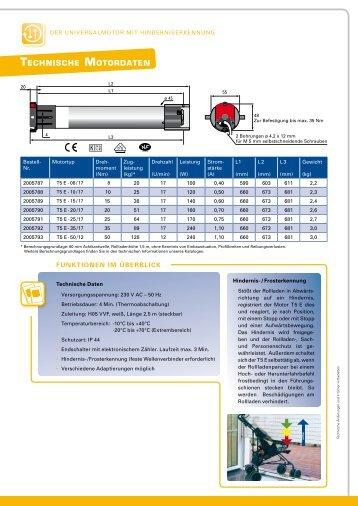 Onlineprospekt Rolladenmotor SIMU T5E - e-motore.com