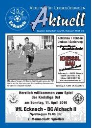 VfLAktuell_13_09/10_4c - VfL Ecknach