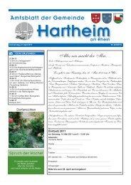 neu macht der Mai… - Gemeinde Hartheim