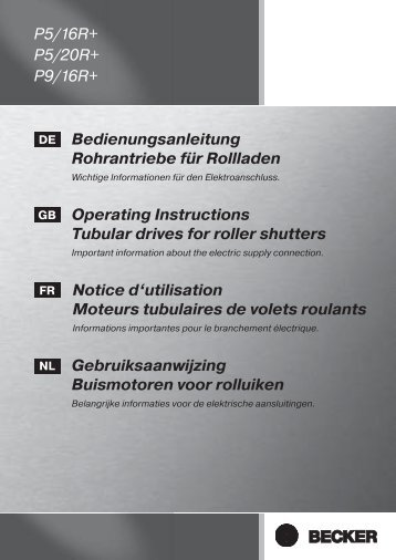 Operating Instructions - BECKER Antriebe Objektportal