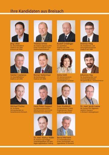 Ihre Kandidaten aus Breisach - CDU Breisach