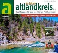 altlandkreis - Das Magazin für den westlichen Pfaffenwinkel - Ausgabe Juli/August 2020