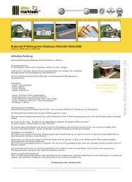 Bubendorff Wintergarten-Rollladen ROLAX ... - ABC-Markisen