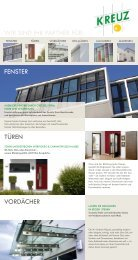 Imageflyer als PDF downloaden - Fensterbau Kreuz, VS-Tannheim ...