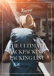 The Ultimate Backpacking Packing List