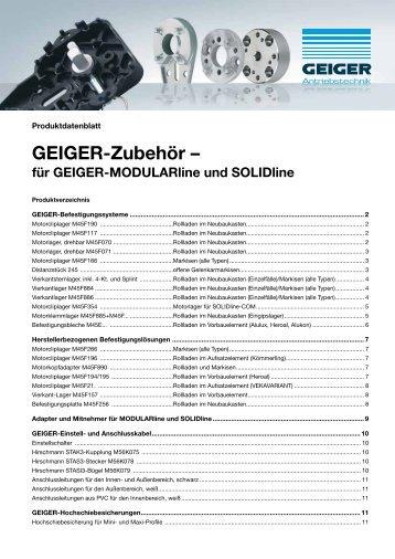 GEIGER-Zubehör – - Geiger Antriebstechnik