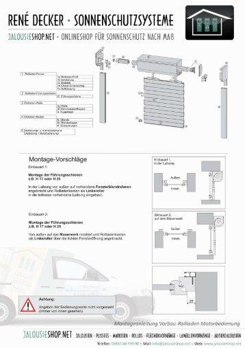 rolladen montage anleitung ot68 hitoiro. Black Bedroom Furniture Sets. Home Design Ideas